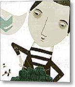 The Bonsai Pruner Metal Print by Luciano Lozano