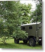 Unimog Truck Of The Belgian Army Metal Print by Luc De Jaeger