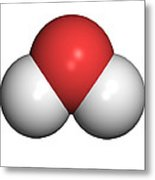 Water Molecule Metal Print by Friedrich Saurer