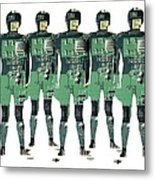 Cybernetics And Robotics Metal Print by Victor De Schwanberg