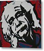 Einstein 2 Metal Print by William Cauthern