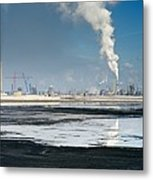 Oil Industry Pollution Metal Print by David Nunuk