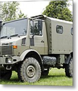 Unimog Truck Of The Belgian Army Metal Print by Luc De Jaeger
