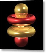 4fz3 Electron Orbital Metal Print by Dr Mark J. Winter