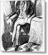Charles Dickens, English Author Metal Print by Photo Researchers