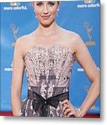 Dianna Agron Wearing A Carolina Herrera Metal Print by Everett