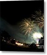 Fireworks Metal Print by Angel  Tarantella