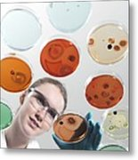 Microbiology Research Metal Print by Tek Image