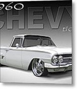 60 Chevy El Camino Metal Print by Mike McGlothlen