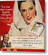 Chesterfield Cigarette Ad Metal Print by Granger