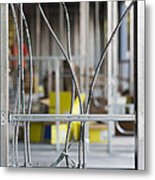 Commercial Building Under Construction Metal Print by Don Mason
