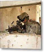 U.s. Army Ranger In Afghanistan Combat Metal Print by Tom Weber