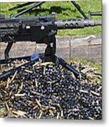A .50 Caliber Browning Machine Gun Metal Print by Andrew Chittock