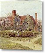 A Buckinghamshire House At Penstreet Metal Print by Helen Allingham