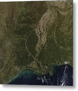 A Cloud-free View Of The Southern Metal Print by Stocktrek Images