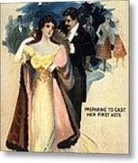 A Contented Woman, C1898 Metal Print by Granger