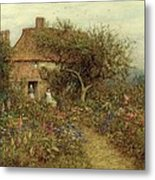 A Cottage Near Brook Witley Surrey Metal Print by Helen Allingham