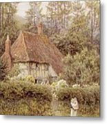 A Cottage Near Haslemere Metal Print by Helen Allingham