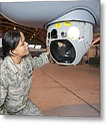 A Crew Chief Works On Mq-9 Reapers Metal Print by HIGH-G Productions