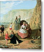 A Day At The Seaside Metal Print by William Scott