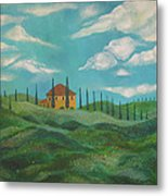 A Day In Tuscany Metal Print by John Keaton
