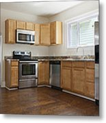 A Domestic Kitchen Interior Metal Print by Roberto Westbrook