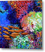 A Flash Of Life And Color Metal Print by John Lautermilch