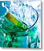 A Glass Of Water Metal Print by MrsRedhead Olga