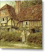 A Kentish Cottage Metal Print by Helen Allingham
