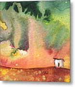 A Little House On Planet Goodaboom Metal Print by Miki De Goodaboom
