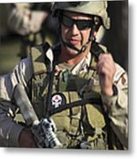 A Military Reserve Navy Seal Gives Metal Print by Michael Wood