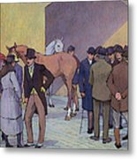 A Morning At Tattersall's Metal Print by Robert Polhill Bevan