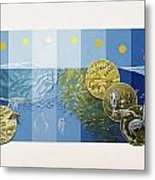 A Painting Depicts The Tiny Life Metal Print by Davis Meltzer