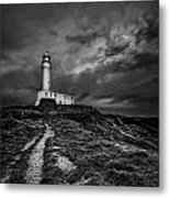A Path To Enlightment Bw Metal Print by Evelina Kremsdorf