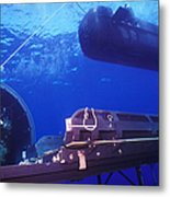 A Seal Delivery Vehicle Hovers Metal Print by Michael Wood
