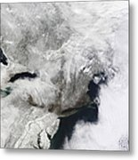 A Severe Winter Storm Metal Print by Stocktrek Images