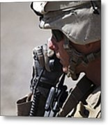 A Squad Leader Puts His Marines Metal Print by Stocktrek Images