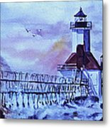 A Storm Is Brewing Metal Print by Catherine Foster