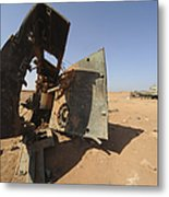 A Tracked Artillery Vehicle Destroyed Metal Print by Andrew Chittock
