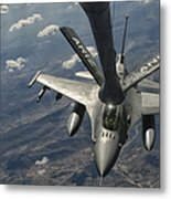 A U.s. Air Force F-16c Block 50 Metal Print by Giovanni Colla