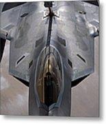 A U.s. Air Force F-22 Raptor Metal Print by Stocktrek Images