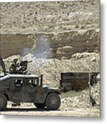 A U.s. Marine Fires A Mark 19-3 40mm Metal Print by Stocktrek Images