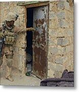 A U.s. Marine Searching Metal Print by Stocktrek Images
