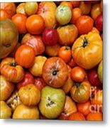 A Variety Of Fresh Tomatoes - 5d17812-long Metal Print by Wingsdomain Art and Photography