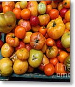 A Variety Of Fresh Tomatoes - 5d17812 Metal Print by Wingsdomain Art and Photography
