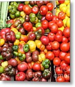 A Variety Of Fresh Tomatoes And Celeries - 5d17901 Metal Print by Wingsdomain Art and Photography