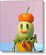 A Vegetable Doll Metal Print by Yagi Studio