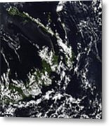 A Volcanic Plume From The Rabaul Metal Print by Stocktrek Images
