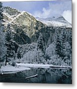A Winter View Of The Merced River Metal Print by Marc Moritsch