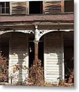 Abandoned House Facade Rusty Porch Roof Metal Print by John Stephens